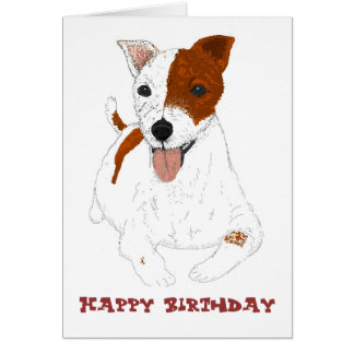 BirthdayCard Jack Russell dog Card
