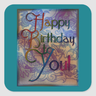 BirthdayDragon Square Sticker