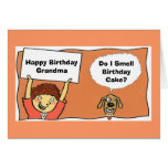 BirthdayGrandma feliz, hace olor de I… Felicitacion