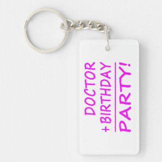 BIRTHDAYMATHS+Doctor+PINK+PROD.png Single-Sided Rectangular Acrylic Keychain