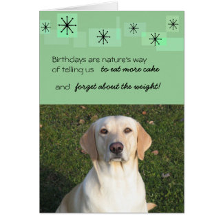 Birthdays are natures way of telling us stationery note card