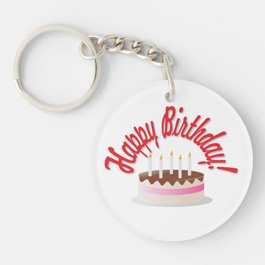 Birthday's cake keychain