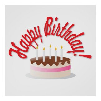 Birthday's cake poster