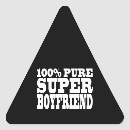 Birthdays Christmas : 100% Pure Super Boyfriend Triangle Stickers