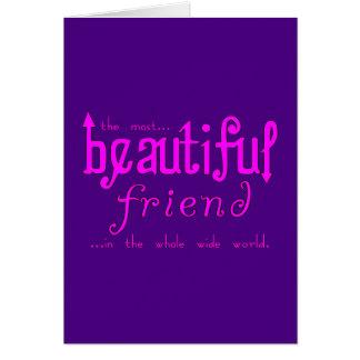 Birthdays Christmas Parties : Beautiful Friend Greeting Card