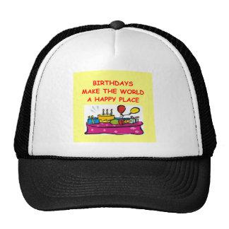 birthdays mesh hat