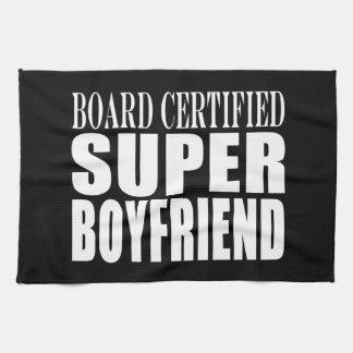 Birthdays Parties Board Certified Super Boyfriend Towel