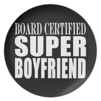 Birthdays Parties Board Certified Super Boyfriend Dinner Plate