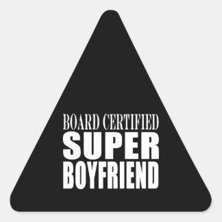 Birthdays Parties Board Certified Super Boyfriend Triangle Sticker