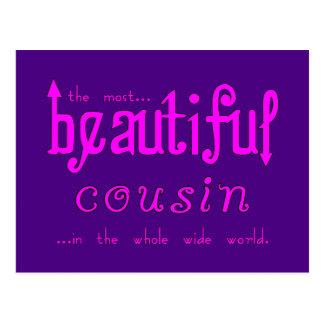 Birthdays Parties Christmas : Beautiful Cousin Postcard