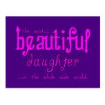 Birthdays Parties Christmas : Beautiful Daughter Postcards