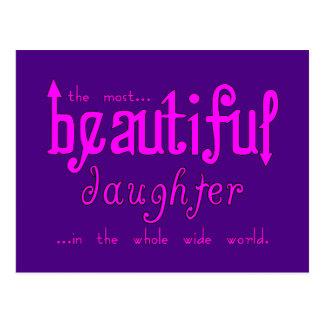 Birthdays Parties Christmas : Beautiful Daughter Postcard
