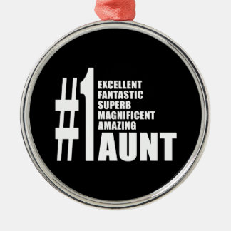 Birthdays Parties Christmas : Number One Aunt Metal Ornament