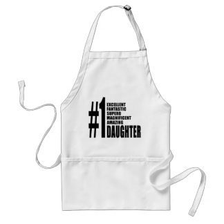 Birthdays Parties Christmas : Number One Daughter Adult Apron