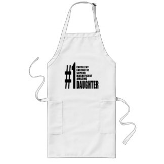 Birthdays Parties Christmas : Number One Daughter Long Apron