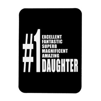 Birthdays Parties Christmas Number One Daughter Vinyl Magnets