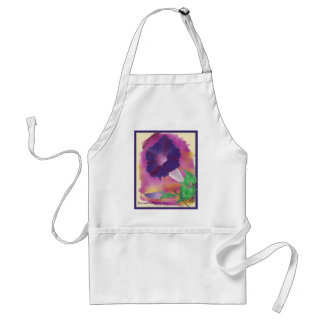 Birthmonth Apron- September, Morning Glory Adult Apron