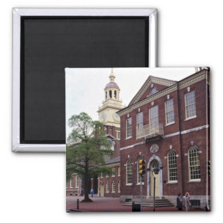 Birthplace of America, Independence Square, Philad 2 Inch Square Magnet