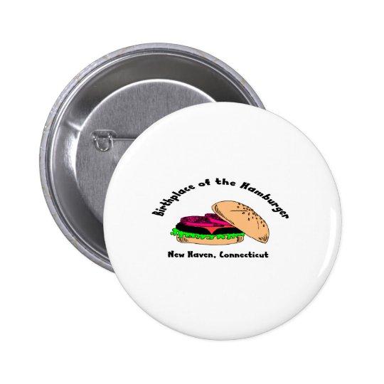 Birthplace of the Hamburger Pinback Button