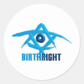 Birthright Classic Round Sticker