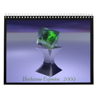 Birthstone Calendar  2009 (updated) - Customized
