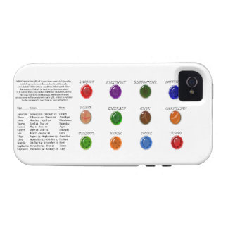 Birthstone Chart iPhone 4/4S Cover