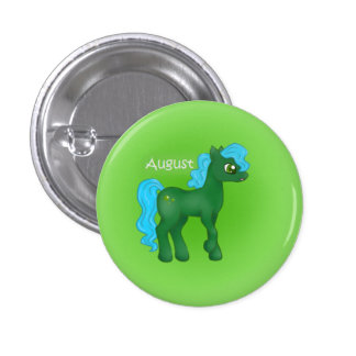Birthstone Pony- August/Peridot Buttons