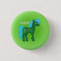 Birthstone Pony- August/Peridot Pinback Button