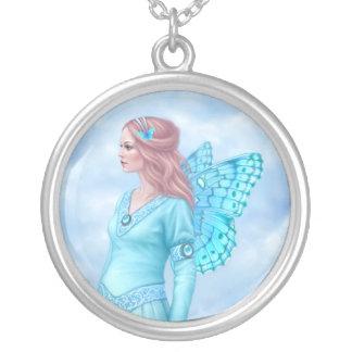 Birthstones - Aquamarine Fairy Cameo Necklace
