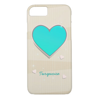 Birthstones December Turquoise blue Heart iPhone 7 Case