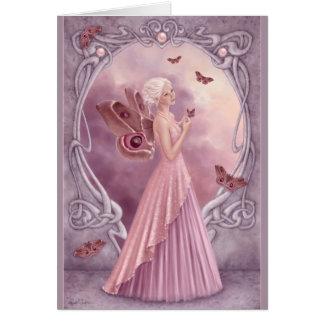 Birthstones - saludo de hadas de la perla felicitación