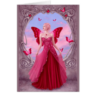 Birthstones - saludo de hadas de rubíes tarjeta