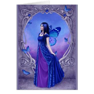 Birthstones - saludo de hadas del zafiro tarjeta de felicitación
