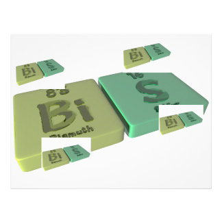 Bis as Bi and Bi Bismuth Letterhead Design