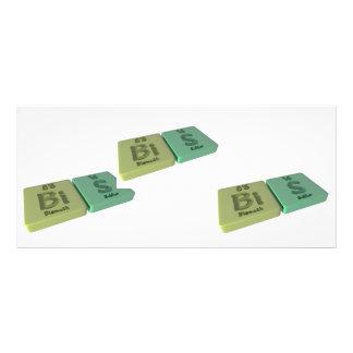 Bis as Bi and Bi Bismuth Rack Cards
