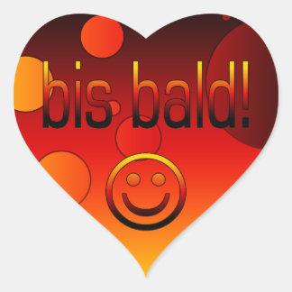 Bis Bald! German Flag Colors Pop Art Heart Sticker
