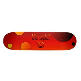 Bis Bald! German Flag Colors Pop Art Skateboard Deck