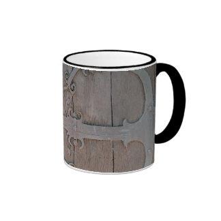 Bisagra de puerta antigua taza de dos colores