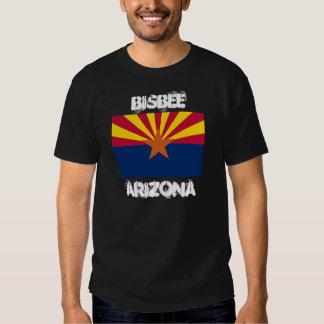 Bisbee, Arizona with Arizona State Flag T Shirt