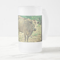 Bisbee Cows Frosted Glass Mug