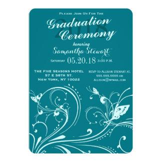 Biscay Bay & Mint Swirls & Butterflies Card
