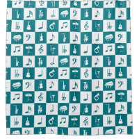 Biscay Bay teal Music Notes and Instruments