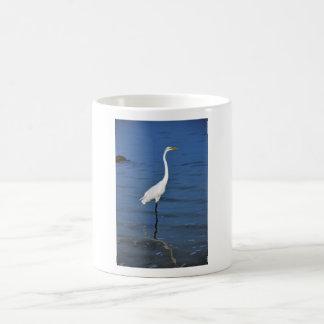 Biscayne Bay Egret Classic White Coffee Mug