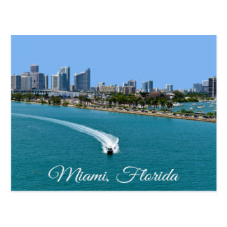Biscayne Bay Miami Beach Florida Postcard