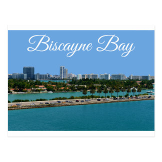 Biscayne Bay  Miami Beach Florida Travel Postcard
