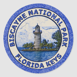Biscayne National Park Classic Round Sticker