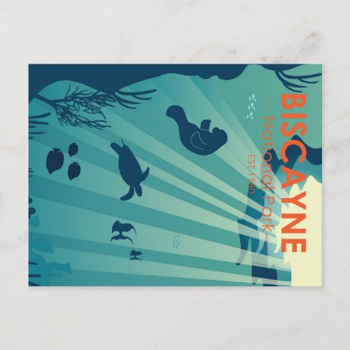 Biscayne National Park Florida Underwater Maritime Postcard