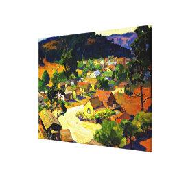 Bischoff - Cambria, a Peaceful California Village Canvas Print