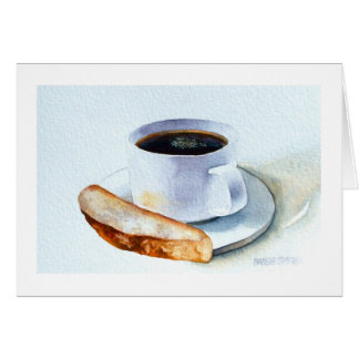 """"""" BISCOTTI AND COFFEE """" STATIONERY NOTE CARD"""