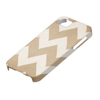 Biscotti y caso de Chevron Iphone 5 de la crema Funda Para iPhone 5 Barely There